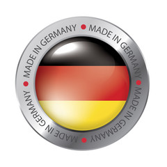 Made in Germany Seal, German Flag (vector Art)