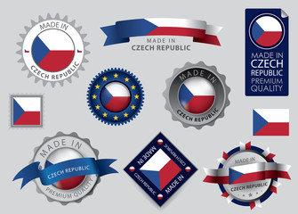 Made in Czech republic seal, Czech Flag (vector Art)