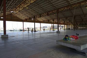 Skating rink at the Port of Valencia, Spain.
