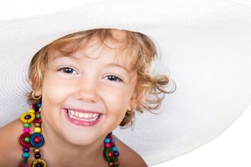 Bella bimba con cappello