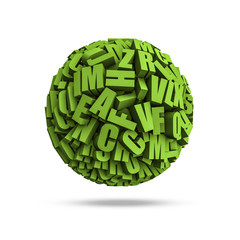 Letters sphere