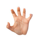 hand grasping gesture poster