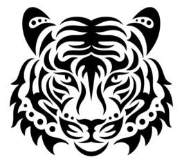 Head of a tiger.
