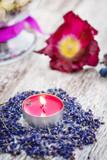 Fototapety Duftkerze, Lavendel