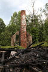 remains of a burnt down mill