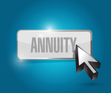 annuity button and cursor illustration design poster