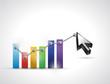 color business graph cursor illustration design