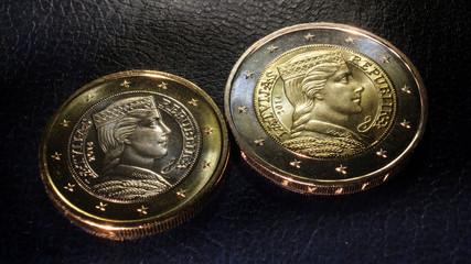 latvian euro coins