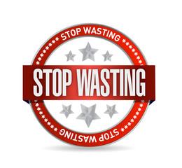 stop wasting seal illustration design