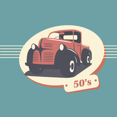 Vintage retro pickup truck car