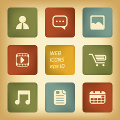 Various applications icon set with different colors