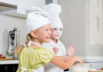 Teamwork in the kitchen