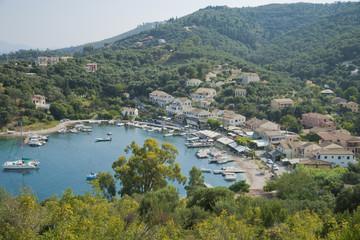Bay of Agios Stefanos on Corfu island, Greece