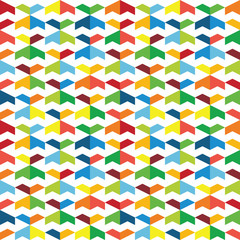 Colorful seamless pattern of geometric shapes