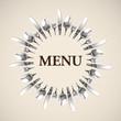 Menu Restaurant Catering  Logo