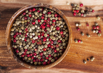 Mixed peppercorns - food spicy background
