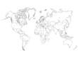 World Map Outline Illustration