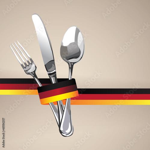 German Restaurant Catering Gastroservice Logo