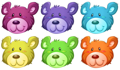 Cute bear heads