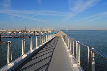 Passerelle du chenal à La Rochelle, France