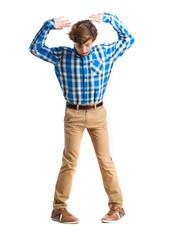 teenager dancing gesture