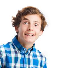 crazy boy face