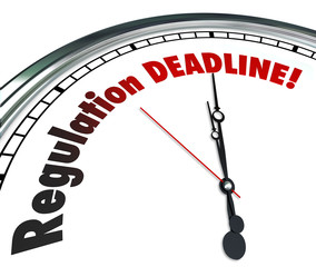 Regulation Deadline Clock Countdown Time Words