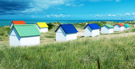 Colourful homes on a beautiful ocean coastline