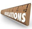 Постер, плакат: Regulations Word Wooden Ruler Measurement Rules Guidelines