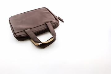 Brown Leather Handbag.