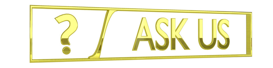 glossy golden ask us icon