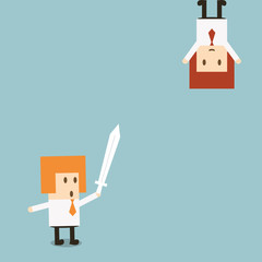 Businessman fignt concept, vector eps10