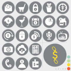 Set of money icons design