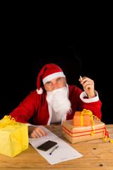Santa having a fag