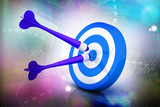 violate darts on blue target poster