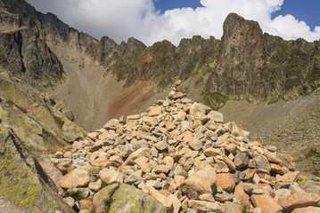 pile of rocks in Haute-Savoie Alps