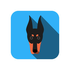 dog face flat icon