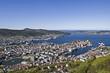 canvas print picture - Ausblick auf Bergen