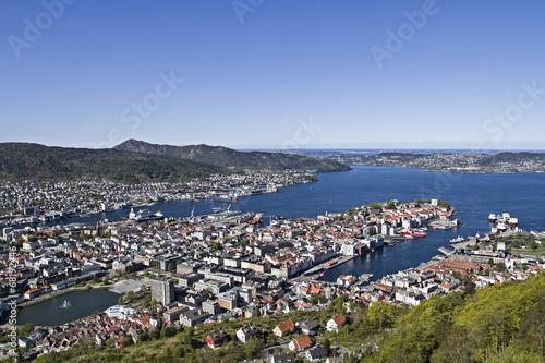 canvas print picture Ausblick auf Bergen