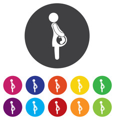 Pregnant sign icon. Women Pregnancy symbol