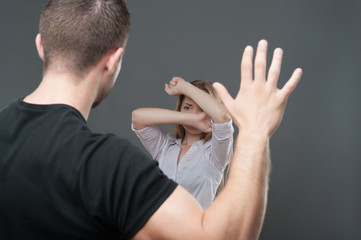 Violence of man against woman