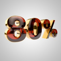 3d golden percent - 80