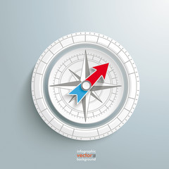 White Ring Compass