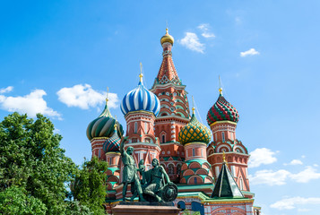 Saint Basil Cathedral, in the Red Square of Moscow