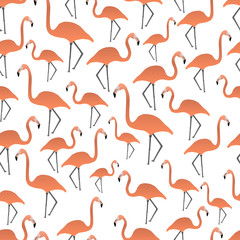 flamingos seamless pattern eps10