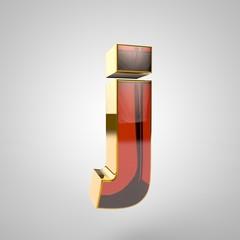 3d golden letter - j