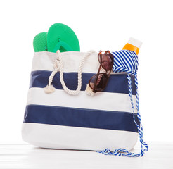 Large summer bag isolated on white background
