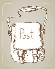 cute vintage letter bag