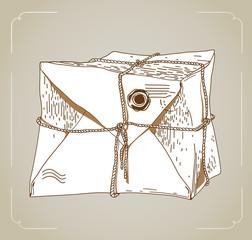 cute vintage  letter- bag