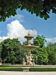 La fontana del Carciofo al Parco del Retiro di Madrid